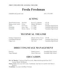 Acting Resume Examples Enchanting Theatre Resume Format Sample Acting Resume Kids Acting Resume Resume