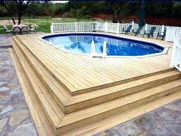 swimming pool wood deck swimming pool wood decking above ground pool deck designs beautiful ground swimming