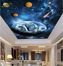 3d Ceiling Design Wallpaper Us 15 04 46 Off 3d Ceiling Murals Wall Paper Sky Blue Dream Planet Decor Painting Photo 3d Wall Murals Wallpaper For Living Room Walls 3 D In