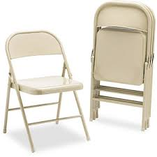 get ations hon steel folding chairs light beige without padded seat