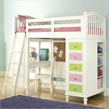 kid loft bed with desk awesome girls beds twin rodeo storage and trundle