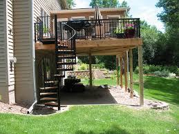 Outdoor Staircase wood iron exterior spiral staircase john robinson house decor 8691 by xevi.us