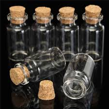 6 x 2 50mm small mini glass jars corks wedding favours craft art vial bottle