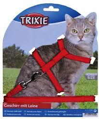 <b>Шлейка Trixie для</b> кошек нейлоновая с поводком - купить в ...