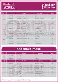 Download The 2018 Fifa World Cup Schedule Qatar Timings