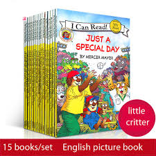 15 books set i can read little critter english picture story book kids baby early