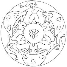 Kabouters Mandala Kleurplaat Mandalas