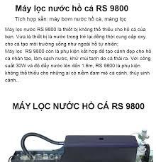 Máy lọc nước hồ cá RS 9800 công suất mạnh tích hợp sẵn máy bơm nước hồ cá  +máng lọc - Mua về dùng được ngay - BH uy tín 1 đổi 1 ( Đen)