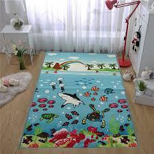 Rugs Flooring Kids Under Water Sea Life Floor Mats Children