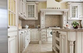 antique white glazed kitchen cabinets