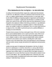 employment discrimination an introduction international page 1 zoom in