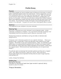 Examples Of Profile Essays College Community Pdf Bout Places