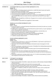 Sales Support Representative Sample Resume Sales Support Representative Resume Samples Velvet Jobs 1