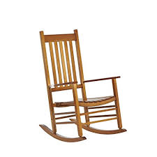 wooden rocking chair. Outsunny Porch Rocking Chair - Outdoor Patio Wooden Natural Color D
