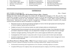 Human Resource Manager Resume Attractive Resume Format