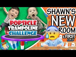 Fgteev Vending Machine Interesting POPSICLE Trampoline Challenge Shawn's New Bedroom Baby's First