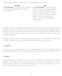 Cover Page For Assignment Free Download Contract Agreement Assignment Of Document Template Cover
