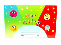 Star Student Certificates Details About Star Student Reward Certificates Pack 25 21 5 X 14cm School Play Group