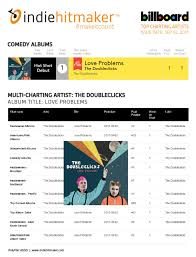Comedy Album Charts Were Charting On Billboard Were Number 1 The Doubleclicks