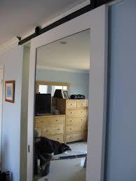 sliding barn door mirror barn door in belmont