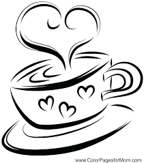 Coffee Cup Coloring Pages Coffee Tea And Wine Coloring Page Coloring