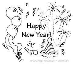 Small Picture Happy New Year Colouring Pages 2017 Free Printable New Year