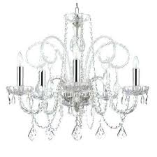 chandelier plug in empress crystal 5 light with chrome sleeves converter