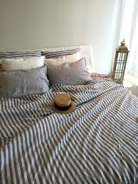 tan linen duvet cover grey white striped for bed covers king pottery barn full size