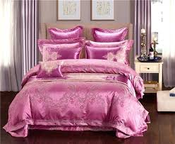pink satin bedding new satin jacquard gold pink blue luxury bedding set bedclothes bedspread queen king size flat bed sheets pink satin bedding sets