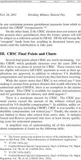 Combat Compensation Pay Chart Dividing Military Retired Pay Disability Payments And The