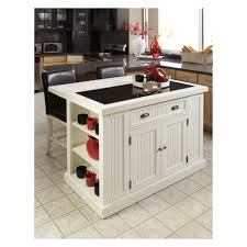 Kitchen Island Beadboard Beadboard Textured White Portable Kitchen Island With Seating And