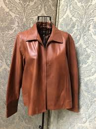 women petite large territory ahead camel color leather jacket