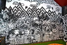 mongolian artist lhagvaa enkhbat who won the 2011 tiger translate competition in mongolia at name this bar in sydney on a large scale wall mural a day  on wall mural artist singapore with organisation of illustators council singapore illustrators and
