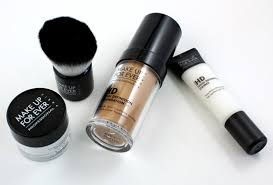 review make up for ever hd plexion starter kit