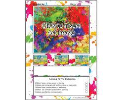 art portfolio template art display paint splatter aussie childcare network