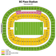 Bc Place Seating Chart Bc Place Maplets