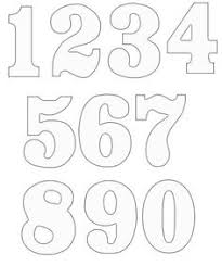 number templates 1 10 numerical stencils printable free free printable number templates
