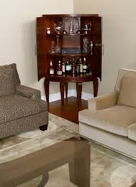 small corner bar furniture. Living Room Corner Bar Inside The Curved Mahogany Cabinet Dry Contemporary On Small Furniture