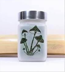amazon stash jar magic mushroom design 420 weed accessories stoner gifts stash jars kitchen dining