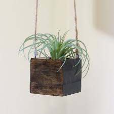 office planter. small wood hanging succulent planter modern cube plant holder indoor garden box office