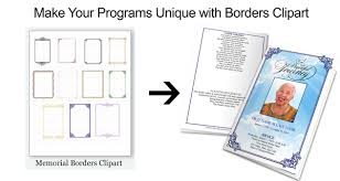 How To Make A Funeral Program Funeral Program Borders Help Make Your Programs Unique