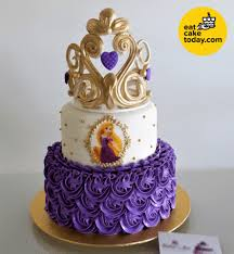 2 Tier Rapunzel Cake Customized Eat Cake Today Delivery Klpj