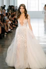 embroidered wedding dress. Berta A Line Long Sleeve Embroidered Tulle Wedding Dress Fall 2018