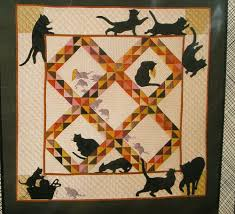 Quilt pattern - amish cats and rats - (1984) silhouette lap or ... & Quilt pattern - amish cats and rats - (1984) silhouette lap or wall quilt Adamdwight.com