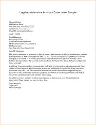 administrative cover letter samples legal administrative assistant cover letter sample