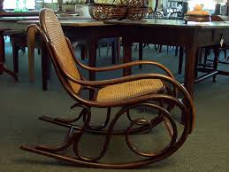 antique thonet rocker the color of the bentwood is deep and has a lovely patina