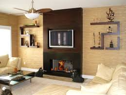 wall mounted fireplace decorating ideas contemporary design pictures remodel