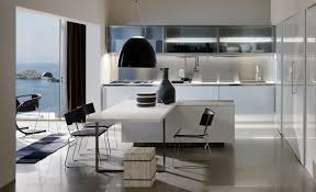 Cabinets Contemporary White And Black Kitchen Ideas Presenting White Wooden Kitchen Cabinet On Ceramics Flooring Plus White Wooden Kitchen Table And Kitchen Island Livinterior Contemporary White And Black Kitchen Ideas Presenting White Wooden