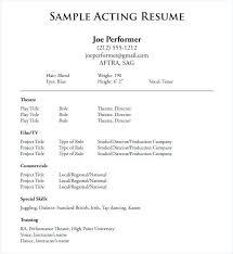 Beginner Acting Resume Classy Beginner Resume Examples Colbroco