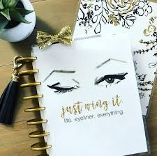 makeup planner cover erin condren planner cover happy planner cover and recollections planner cover